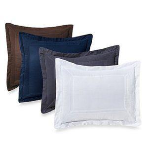 Ampersand Pintuck Pillow Sham (Euro or Standard)